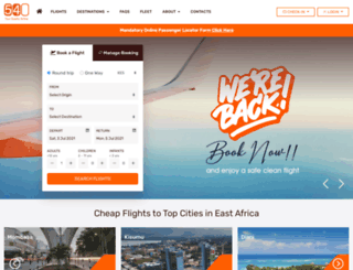 booking.fly540.com screenshot