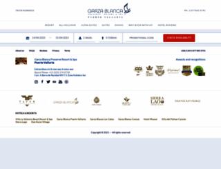 booking.garzablancaresort.com screenshot