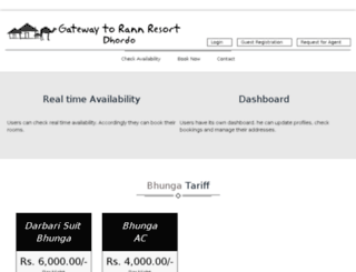 booking.kutchrannresort.com screenshot