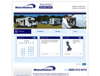 booking.motorholme.co.uk screenshot