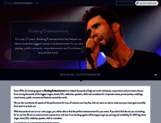 bookingentertainment.com screenshot