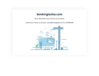 bookinglanka.com screenshot