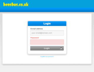 bookings.bensbus.co.uk screenshot
