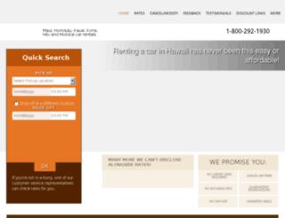 bookings.hawaiicarrentaldiscount.com screenshot