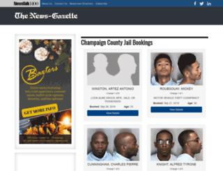 bookings.news-gazette.com screenshot