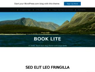 booklitedemo.wordpress.com screenshot