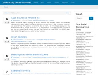 bookmarking.canberra-classified.com screenshot