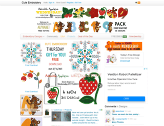 bookmarks.cuteembroidery.com screenshot