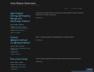 bookmarks.honewatson.com screenshot