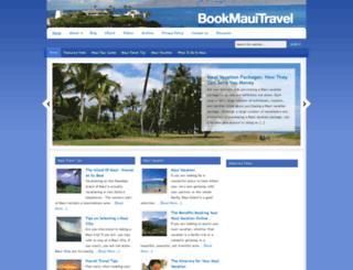 bookmauitravel.com screenshot