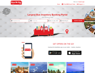 bookmybus.com screenshot
