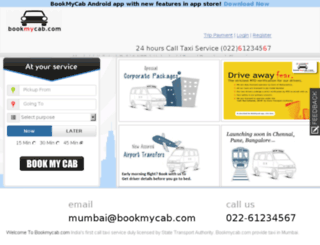 bookmycab.in screenshot