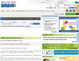 bookmycargo.net screenshot