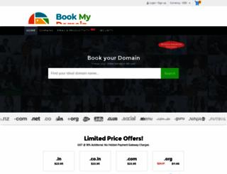 bookmydomainname.com screenshot