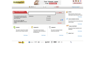 bookmyname.com screenshot
