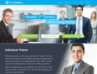 bookmytrainers.com screenshot
