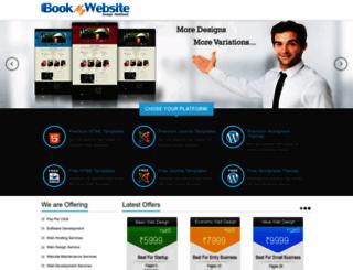 bookmywebsite.in screenshot