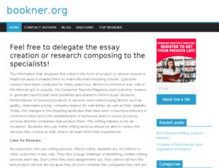 bookner.org screenshot