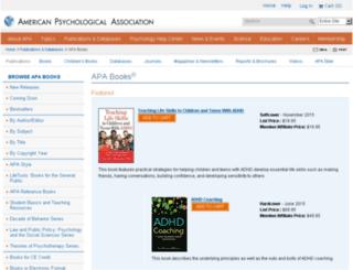 books.apa.org screenshot