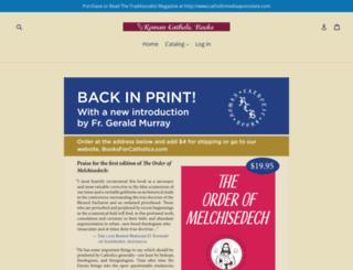 booksforcatholics.com screenshot