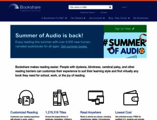 bookshare.org screenshot