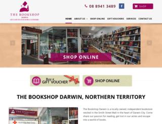 bookshopdarwin.darwinwebdesign.com.au screenshot