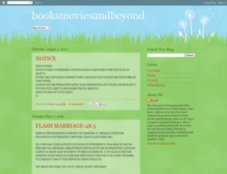 booksmoviesandbeyond.blogspot.de screenshot
