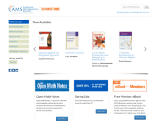bookstore.ams.org screenshot