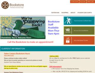 bookstore.chemeketa.edu screenshot