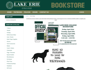 bookstore.lec.edu screenshot