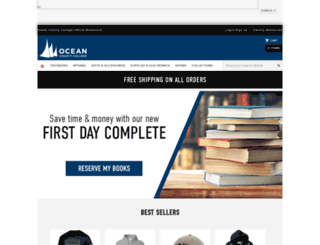 bookstore.ocean.edu screenshot