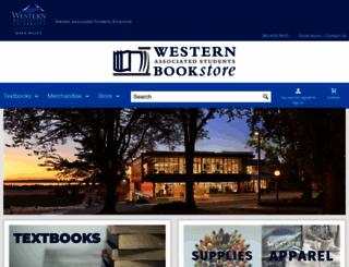 bookstore.wwu.edu screenshot