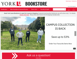 bookstore.yorku.ca screenshot