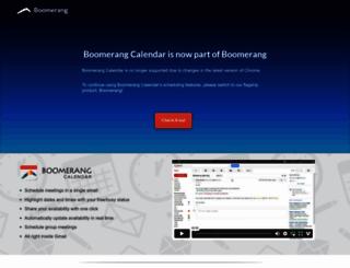 boomerangcalendar.com screenshot