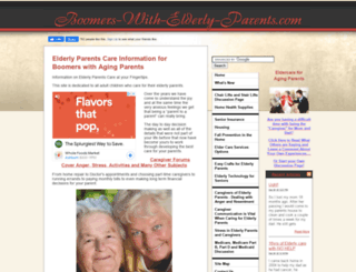 boomers-with-elderly-parents.com screenshot