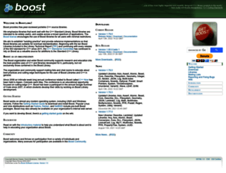boost.org screenshot