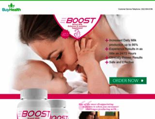 boostbreastmilk.com screenshot
