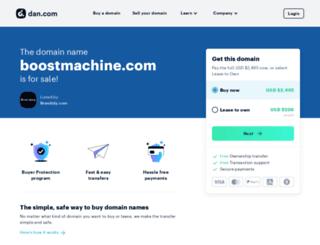 boostmachine.com screenshot