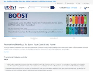 boostpromotionalproducts.com.au screenshot
