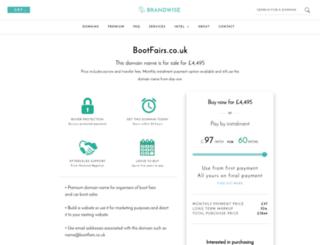 boot-fairs.co.uk screenshot