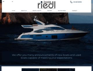 boote-riedl.at screenshot
