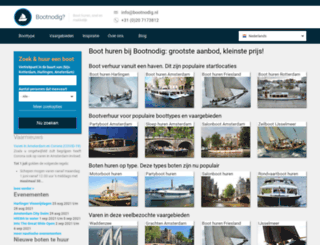 bootnodig.nl screenshot