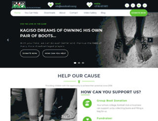 bootsforafrica.org screenshot