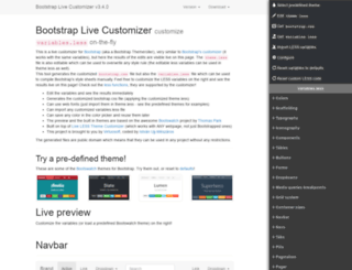 bootstrap-live-customizer.com screenshot