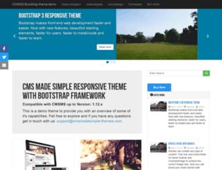 bootstrap.cmsmadesimple-themes.com screenshot