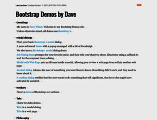 bootstrapdemos.scripting.com screenshot
