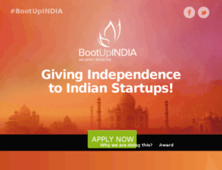 bootupindia.ispirt.in screenshot