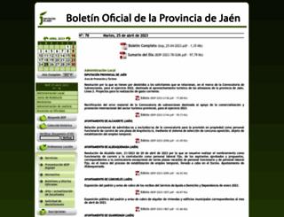 bop.dipujaen.es screenshot