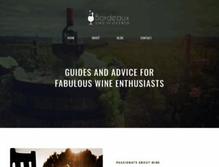 bordeaux-undiscovered.co.uk screenshot