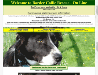 bordercollierescue.org screenshot